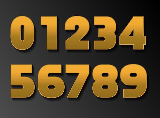 Numeri d'oro di lusso premium