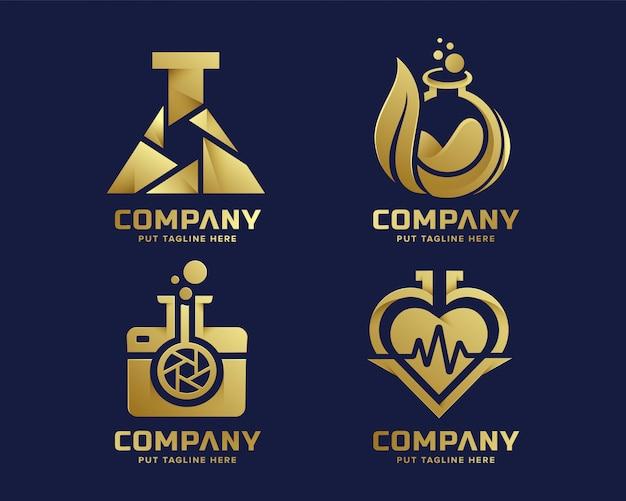 Logo del lavoro di lusso premium Vettore Premium