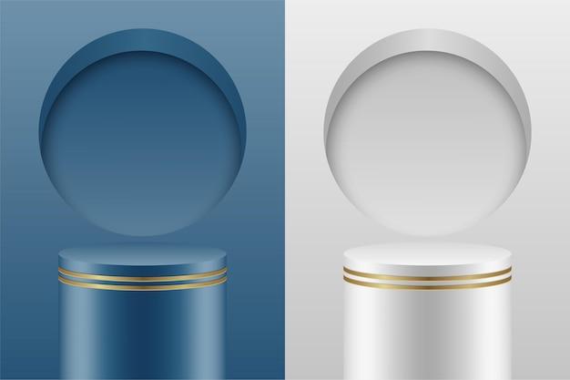 Premium minimal abstract podio luxury color
