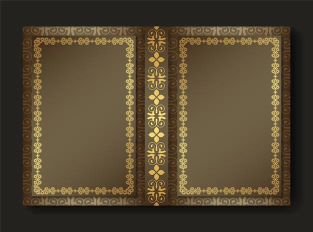 Design di copertina del libro ornamentale premium