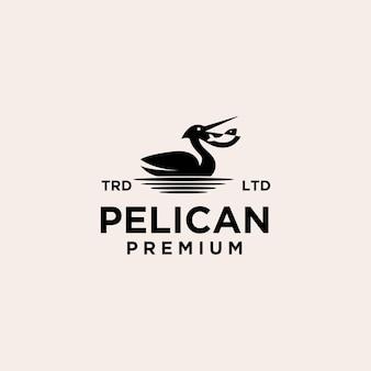 Design del logo vettoriale premium pellicano