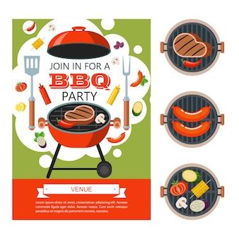 Barbecue di prima qualità. emblema di vettore, logo. la testa di una mucca. forchetta e pala incrociate da chef. manzo di altissima qualità.