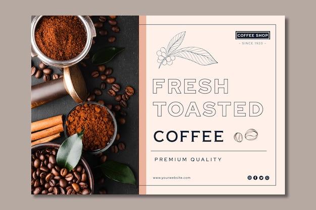 Banner di caffè di qualità premium