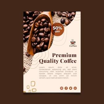 Poster di caffè di qualità premium
