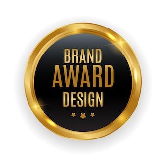 Medaglia d'oro di qualità premium. etichetta seal brand award design isolato