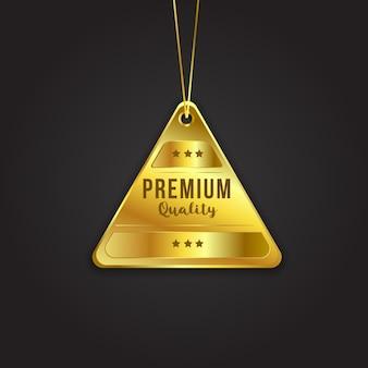 Distintivo dorato di qualità premium in vendita offre shopping