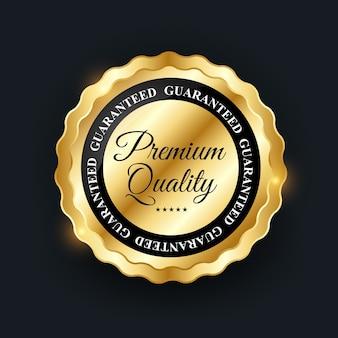 Distintivo dorato di qualità premium