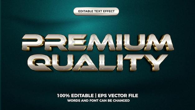 Modello di stile effetto testo modificabile 3d di lusso in oro bianco di qualità premium