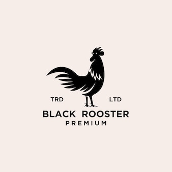 Design premium del logo del gallo nero