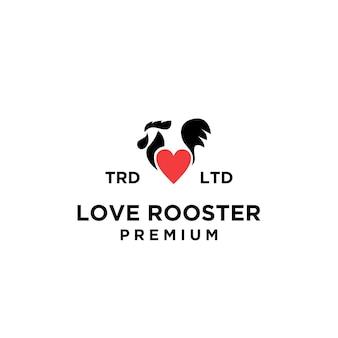 Design del logo amante del gallo premium