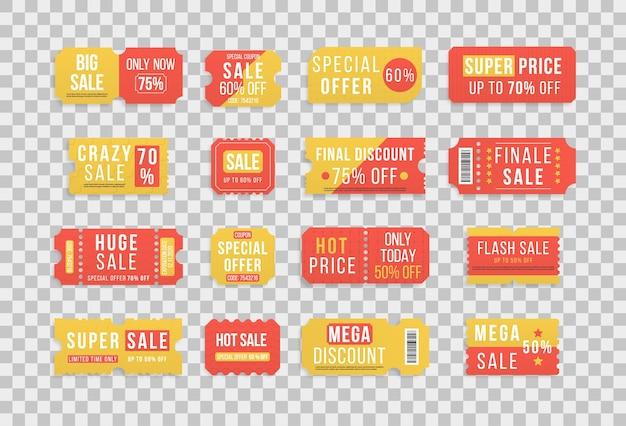 Offerte a prezzo speciale premium coupon di vendita o buoni con prezzi al dettaglio migliori promozionali