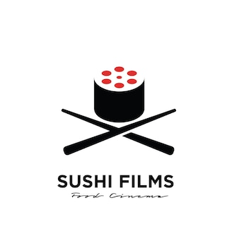 Premium sushi film studio movie production logo design