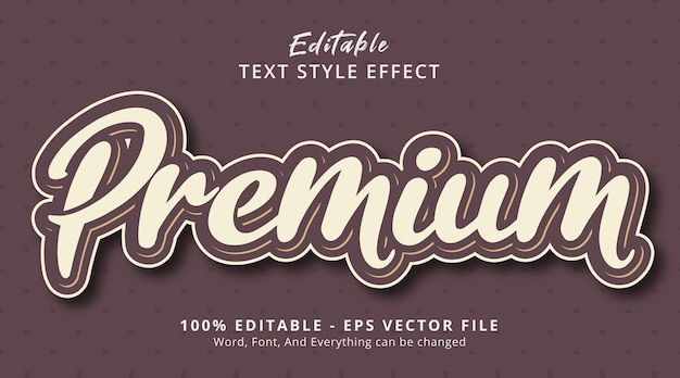 Testo premium su effetto stile colore retrò, effetto testo modificabile