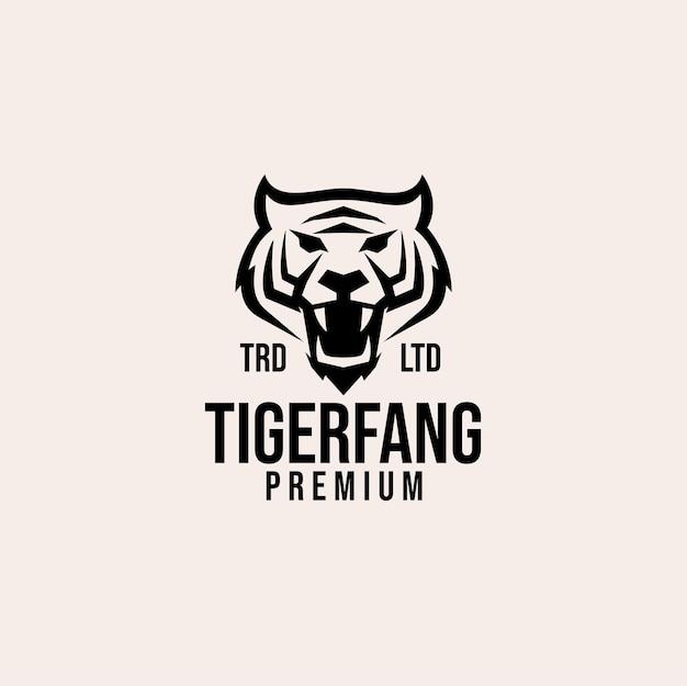Design del logo vettoriale testa di tigre premium