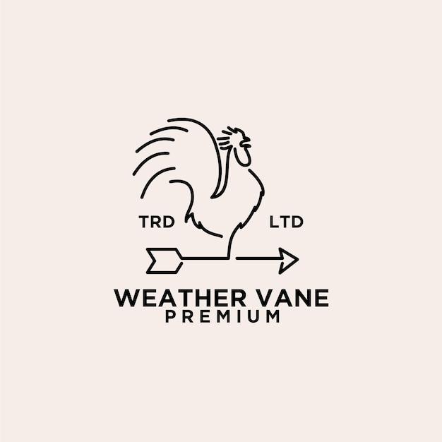 Logo vintage del gallo della banderuola premium