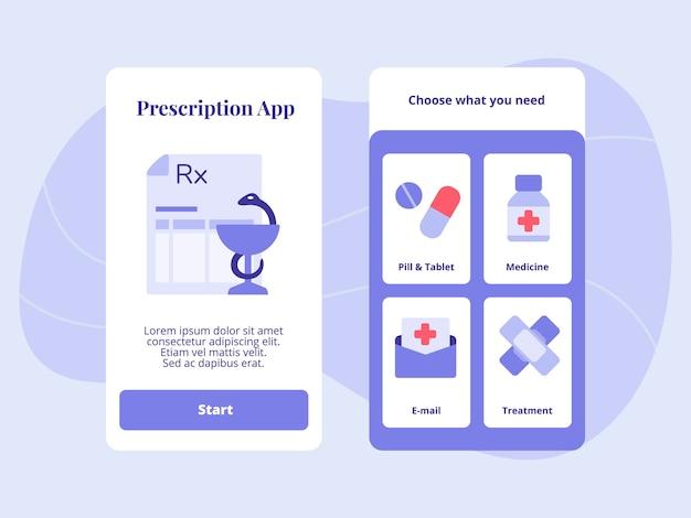 Prescrizione app pillola tablet medicina e-mail trattamento