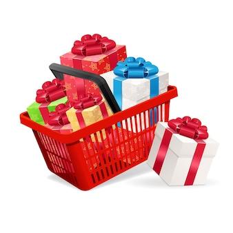 Presente il concetto di vendita per i negozi. illustrazione vettoriale
