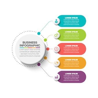 Modello di presentazione aziendale cerchio infografica