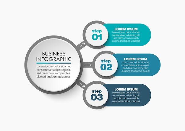 Presentazione modello di infografica del circolo aziendale