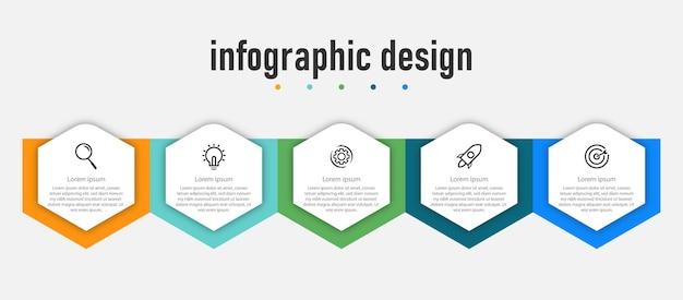 Presentazione business creativo infografica design