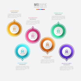 Modello di progettazione infografica di presentazione aziendale