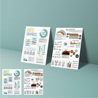 Presentazione di elementi infographic di affari