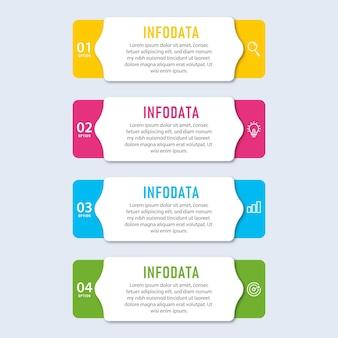Elementi di modello di presentazione aziendale infografica con 5 opzioni