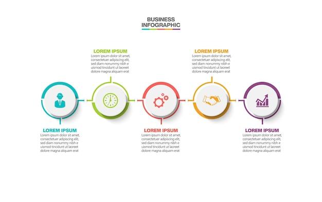 Modello di presentazione aziendale infografica con opzioni