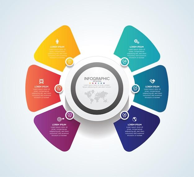 Modello di presentazione aziendale infografica con passaggio