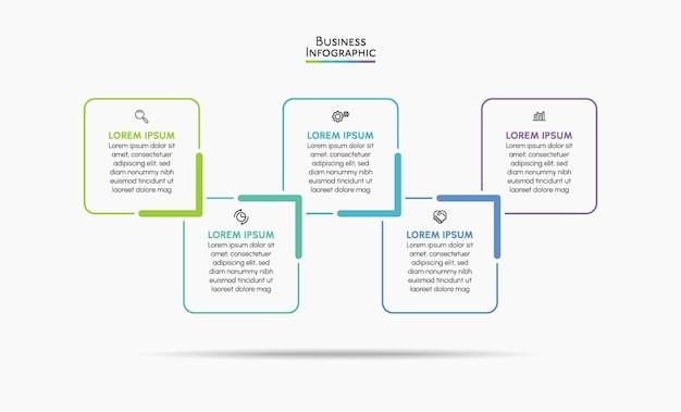 Modello di infografica aziendale di presentazione