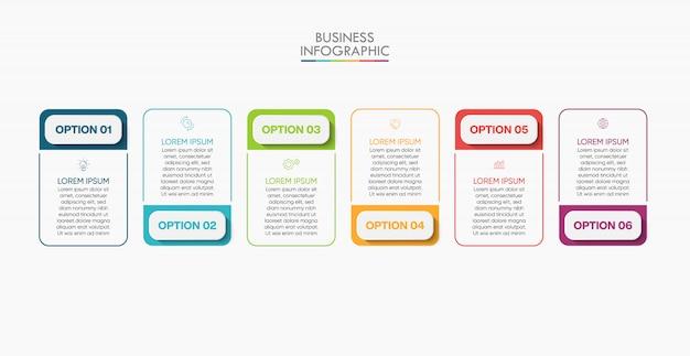 Modello di presentazione aziendale infografica Vettore Premium