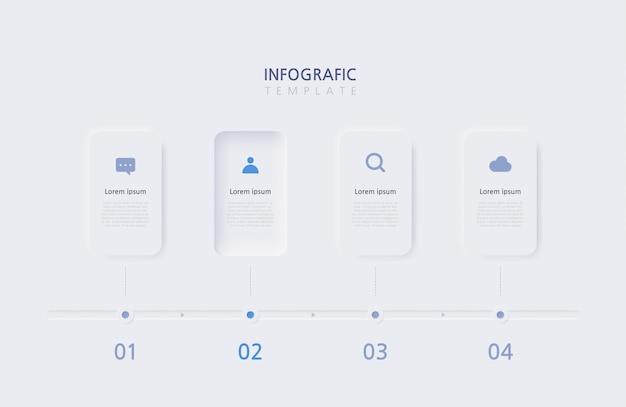 Modello di infographics di affari di presentazione