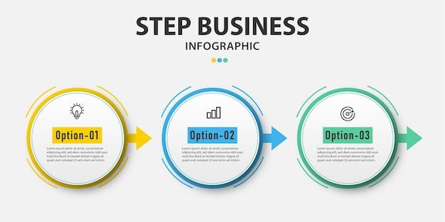 Presentazione cerchio affari infografica