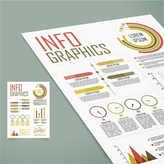 Presentazione di elementi infographic
