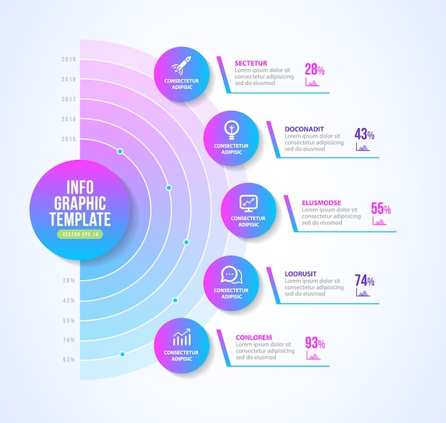 Progettazione del layout infografica di presentazione
