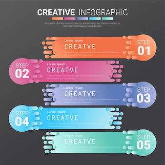 Modello di presentazione infografica