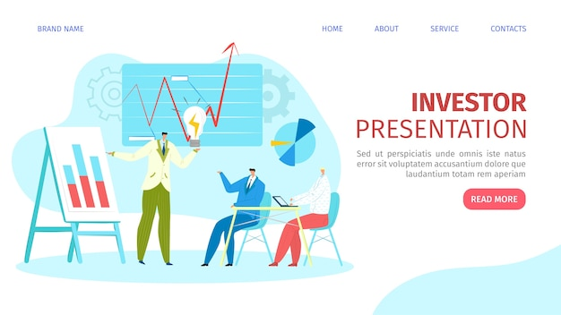 Presentazione per l'illustrazione della pagina web degli investitori