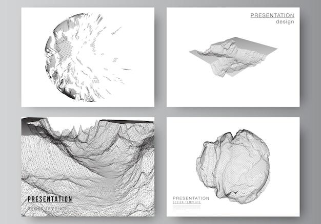 Modello di modelli di business di progettazione di diapositive di presentazione per affari di copertina di brochure