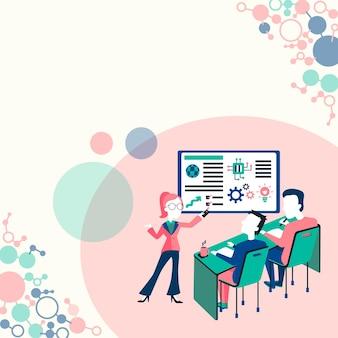 Presentazione del rapporto sul progetto rapporto sul concetto dello stato aziendale rapporti sulla presentazione del prodotto