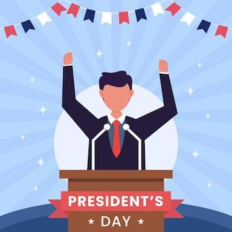 Illustrazione di concetto di giorno del presidente