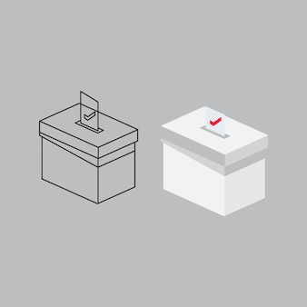 Modello di disegno di casella di voto elettorale presidenziale
