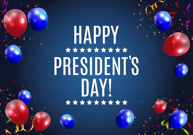 Il giorno dei presidenti negli stati uniti sullo sfondo. può essere usato come banner o poste
