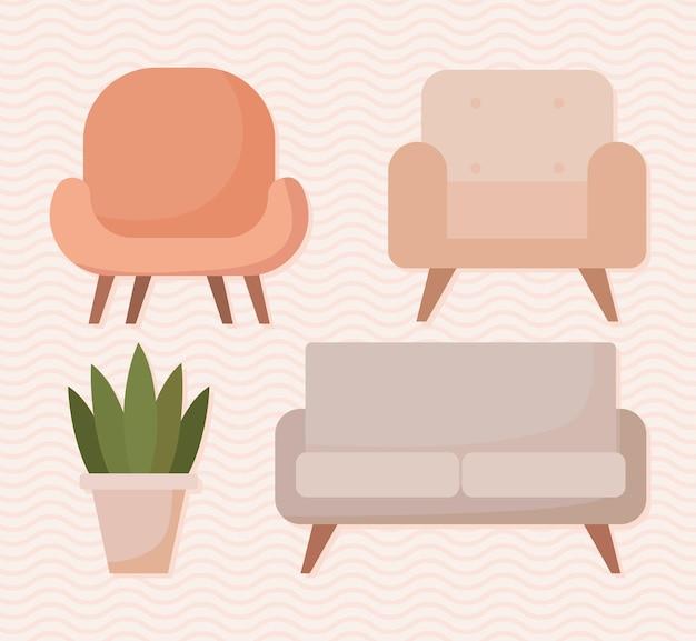 Belle icone di mobili