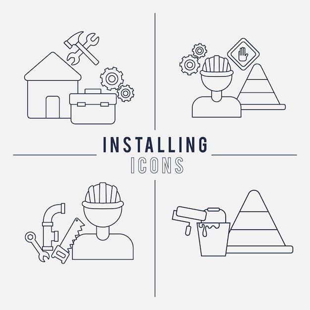 Belle illustrazioni di installazione
