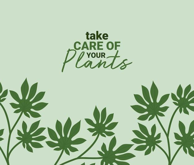 Cartello delle foglie graziose