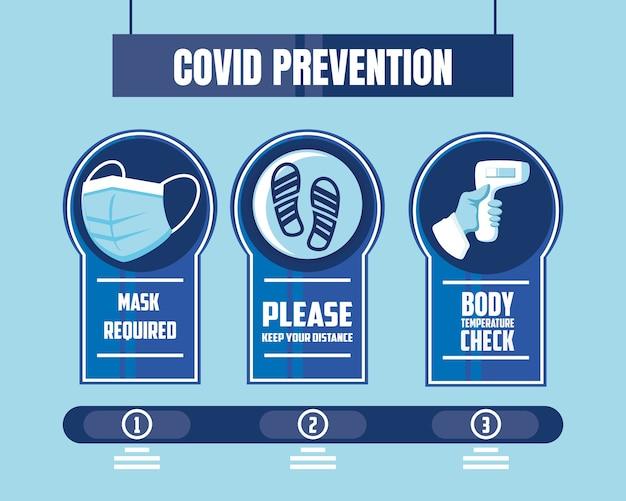 Prevenzione dell'illustrazione di covid 19