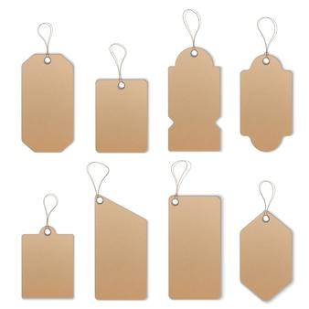 Insieme di modelli di etichette o tag prezzo o vendita