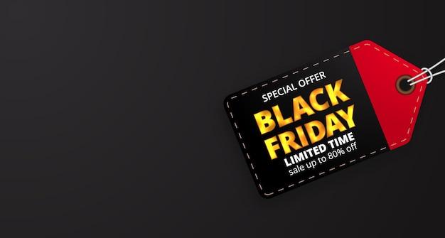 Etichetta del prezzo per la vendita del venerdì nero