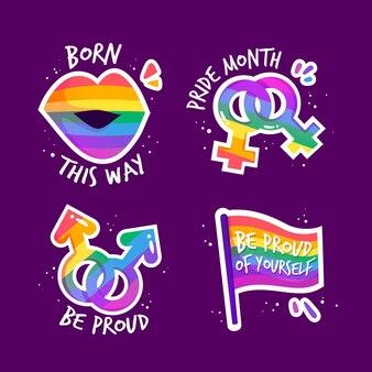Collezione di badge giorno dell'orgoglio