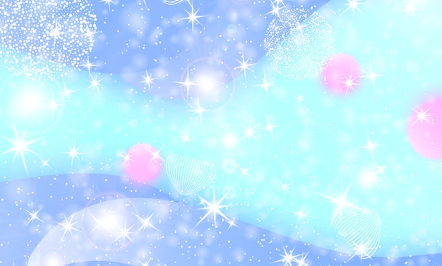 Sfondo principessa. stelle magiche. galassia di fantasia. colori da favola.